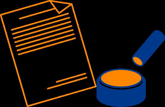 イラスト:書類と印鑑